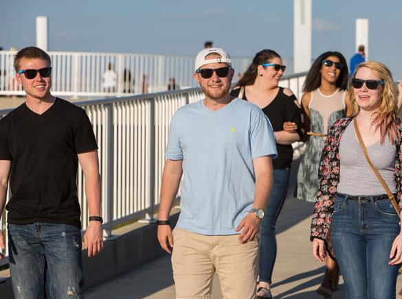 Students on Big Four Bridge Louisville