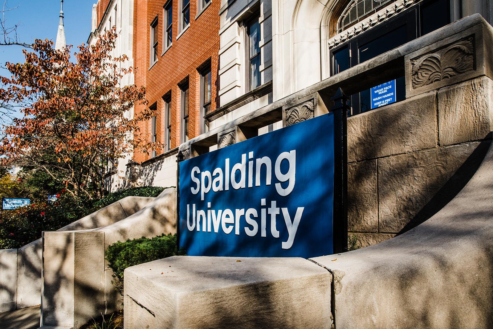 West entrance of Spalding University Mansion